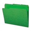 "Sparco Top Tab File Folder - Letter - 8 1/2"" x 11"" Sheet Size - 1/3 Tab Cut - Assorted Position Tab Location - 11 pt. Folder Thickness - Green - Recycled - 100 / Box"