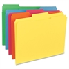 "Top Tab File Folder - Letter - 8 1/2"" x 11"" Sheet Size - 1/3 Tab Cut - Assorted Position Tab Location - 11 pt. Folder Thickness - Red, Green, Yellow, Orange, Blue - Recycled - 100 / Box"