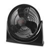 "Honeywell HF-910 Honeywell Turbo Force Power Floor Fan - 3 Speed - Pivoting Head, Quiet, Adjustable Tilt Head - 20"" Height x 7"" Width x 20"" Depth - Black"