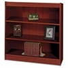 "Square-Edge Bookcase - 36"" x 12"" x 36.8"" - 3 x Shelf(ves) - 300 lb Load Capacity - Mahogany - Veneer - Particleboard, Wood - Recycled - Assembly Required"