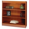 "Square-Edge Bookcase - 36"" x 12"" x 36.8"" - 3 x Shelf(ves) - 300 lb Load Capacity - Cherry - Veneer - Particleboard, Wood - Recycled - Assembly Required"