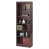 "Safco Baby Bookcase - 24"" x 12"" x 72"" - 6 x Shelf(ves) - 600 lb Load Capacity - Mahogany - Veneer - Particleboard, Wood - Recycled - Assembly Required"