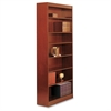 "Square-Edge Bookcase - 36"" x 12"" x 84"" - 7 x Shelf(ves) - 700 lb Load Capacity - Cherry - Veneer - Particleboard, Wood - Recycled - Assembly Required"