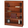 "Square-Edge Bookcase - 36"" x 12"" x 48"" - 4 x Shelf(ves) - 400 lb Load Capacity - Cherry - Veneer - Particleboard, Wood - Recycled - Assembly Required"