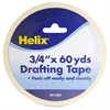 "Helix 3/4"" Drafting Tape - 0.75"" Width x 5 ft Length - Removable - 5 / Box - White"