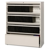 "Lorell Receding Lateral File with Roll Out Shelves - 42"" x 18.6"" x 52.5"" - 4 x Drawer(s) for File - Legal, A4, Letter - Heavy Duty, Recessed Handle, Ball-bearing Suspension, Leveling Glide, Interlocki"