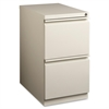 "Mobile File Pedestal - 15"" x 22.9"" x 27.8"" - Letter - Ball-bearing Suspension, Security Lock, Recessed Handle - Putty - Steel - Recycled"