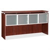 "Lorell Ascent Hutch - 70.9"" x 14.8"" x 38.4"" - 4 x Door(s) - 44 lb Load Capacity - Durable, Stain Resistant, Scratch Resistant, Grommet - Mahogany - Laminate - Aluminum, Polyvinyl Chloride (PVC), Glass"