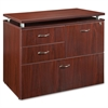 "Lorell Ascent File Cabinet - 35.5"" x 21.9"" x 29.5"" - 4 x Drawer(s) for File - Legal, Letter - Durable, Stain Resistant, Scratch Resistant, Locking Drawer, Leveling Glide, Ball-bearing Suspension - Mah"