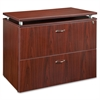 "Lorell Ascent File Cabinet - 35.5"" x 21.9"" x 29.5"" - 2 x Drawer(s) for File - Legal, Letter - Locking Drawer, Leveling Glide, Ball-bearing Suspension, Stain Resistant, Scratch Resistant, Durable - Mah"