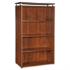 "Lorell Ascent Bookcase - 31.5"" x 13.8"" x 47.3"" - 4 x Shelf(ves) - 176 lb Load Capacity - Durable, Leveling Glide, Stain Resistant, Scratch Resistant - Cherry - Laminate - Aluminum, Polyvinyl Chloride"