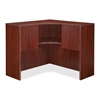 "Essentials Corner Hutch - 41.4"" x 41.4"" x 36"" - Security Lock, Leveling Glide - Mahogany - Laminate - Polyvinyl Chloride (PVC) - Assembly Required"