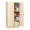 "7224 Standard Storage Cabinet - 36"" x 24"" x 72"" - 5 x Shelf(ves) - 2 x Standard Door(s) - 750 lb Load Capacity - Heavy Duty, Leveling Glide, Recessed Handle, Locking Mechanism - Putty - Powder"