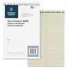"Business Source Pitman Ruled Steno Notebook - 70 Sheets - Printed - Wire Bound - 6"" x 9"" - Green Paper - 1Each"