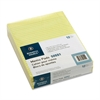 "Business Source Glued Top Ruled Memo Pads - 50 Sheets - Printed - Glue - 16 lb Basis Weight - Letter 8.50"" x 11"" - Canary Paper - 1Dozen"