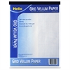 "Helix Grid Vellum Paper Pad - 50 Sheets - Printed - 20 lb Basis Weight - Letter 8.50"" x 11"" - White Paper - 50 / Pad"