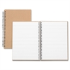 "Nature Saver Hardcover Twin Wire Notebooks - 80 Sheets - Wire Bound - 0.25"" Front Line(s) Space - Ruled - 22 lb Basis Weight 8.25"" x 5.88"" - Brown Cover - Kraft Cover - Hard Cover, Heavyweight, Micro"