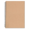 "Nature Saver Hardcover Twin Wire Notebooks - 80 Sheets - Printed - Spiral - 22 lb Basis Weight 11.75"" x 8.25"" - Brown Cover - Kraft Cover - Recycled - 1Each"
