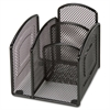 Lorell Mini Steel Wire Mesh Desktop Organizer - Wire Bound - Desktop - Black - Pocket