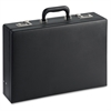 "Lorell Carrying Case (Attaché) for Document - Black - Vinyl - 12.5"" Height x 17.5"" Width x 4"" Depth"