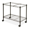 "Mobile File Cart - 4 Casters - Steel - 12.9"" Width x 25.8"" Depth x 20.5"" Height - Black"