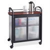 "Safco Impromptu Refreshment Cart - 440.92 lb Capacity - 4 Casters - 2.50"" Caster Size - Steel - 34"" Width x 21.3"" Depth x 36.5"" Height - Steel Frame - Black"