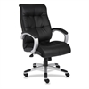 "Lorell Executive Chair - Leather Black Seat - 5-star Base - Black - 20"" Seat Width x 20"" Seat Depth - 27"" Width x 32"" Depth x 44.5"" Height"