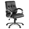 "Managerial Chair - Leather Black Seat - 5-star Base - Black - 19.50"" Seat Width x 20.50"" Seat Depth - 32"" Width x 27"" Depth x 41"" Height"