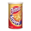 Frito Scoops Canister - Resealable Lid - Corn - 12 / Carton