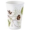 Dixie Pathways Designs 12oz Cold Cups - 12 fl oz - 50 / Pack - White - Poly Paper - Cold Drink