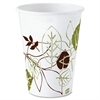 Dixie Pathways Design Polylined Hot Cups - 10 fl oz - 1000 / Carton - White - Paper - Hot Drink