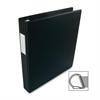 "Business Source Slanted D-Ring Binder - 1"" Binder Capacity - 3 x D-Ring Fastener(s) - 2 Internal Pocket(s) - Chipboard, Polypropylene - Black - 1 Each"
