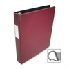 "Business Source Slanted D-Ring Binder - 1"" Binder Capacity - 3 x D-Ring Fastener(s) - 2 Internal Pocket(s) - Chipboard, Polypropylene - Burgundy - 1 Each"