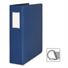 "Business Source Slanted D-Ring Binder - 2"" Binder Capacity - 3 x D-Ring Fastener(s) - 2 Internal Pocket(s) - Chipboard, Polypropylene - Blue - 1 Each"