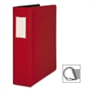 "Business Source Slanted D-Ring Binder - 2"" Binder Capacity - 3 x D-Ring Fastener(s) - 2 Internal Pocket(s) - Chipboard, Polypropylene - Red - 1 Each"