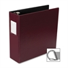 "Business Source Slanted D-Ring Binder - 3"" Binder Capacity - 3 x D-Ring Fastener(s) - 2 Internal Pocket(s) - Chipboard, Polypropylene - Burgundy - 1 Each"