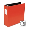"Slanted D-Ring Binder - 3"" Binder Capacity - 3 x D-Ring Fastener(s) - 2 Internal Pocket(s) - Chipboard, Polypropylene - Red - 1 Each"