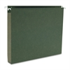 "Business Source Hanging Box Bottom File Folder - Letter - 8 1/2"" x 11"" Sheet Size - 1"" Expansion - 1/5 Tab Cut - Standard Green - Recycled - 25 / Box"
