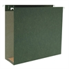 "Business Source Hanging Box Bottom File Folders - Letter - 8 1/2"" x 11"" Sheet Size - 3"" Expansion - 1/5 Tab Cut - Standard Green - Recycled - 25 / Box"