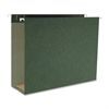"Business Source 1/5 Cut Box Btm Hanging Legal Folders - Legal - 8 1/2"" x 14"" Sheet Size - 3"" Expansion - 1/5 Tab Cut - Standard Green - Recycled - 25 / Box"
