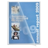 "Slide Bind Report Cover - 1/8"" Folder Capacity - 8 1/8"" x 11"" Sheet Size - Polypropylene - White - 50 / Box"