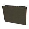 "Sparco Tabview Hanging File Folder - Letter - 8 1/2"" x 11"" Sheet Size - Manila - Green - Recycled - 20 / Pack"