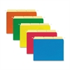 "Sparco Tabview Hanging File Folders - Letter - 8 1/2"" x 11"" Sheet Size - Manila - Assorted - Recycled - 20 / Pack"