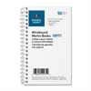 "Business Source Ruled Memo Book - 50 Sheet(s) - Wire Bound - 5"" x 3"" Sheet Size - 1 Dozen"