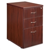 "Lorell Ascent Pedestal - 15.8"" x 21.9"" x 27"" - 3 - Material: Particleboard - Finish: Laminate, Mahogany"