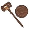 Advantus Brass Engraved Gavel Set - Brass