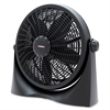 "Lorell 16"" 3-Speed Tilt Box Fan - 16"" Diameter - 3 Speed - Adjustable Tilt Head - 19.1"" Height x 6.5"" Width x 21.7"" Depth - Plastic Base, Plastic Housing - Black"