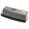 Business Source Portable Three-hole Punch - 3 Punch Head(s) - 15 Sheet Capacity - Black, Gray