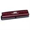 "Business Source Translucent Manual Hole Punch - 3 Punch Head(s) - 8 Sheet Capacity - 1/4"" Punch Size - Magenta"
