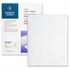 "Mailing Label - Permanent Adhesive - 1"" Width x 4"" Length - Rectangle - Laser - Clear - 1000 / Pack"